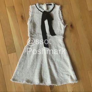 ZARA TWEED FIT & FLARE DRESS